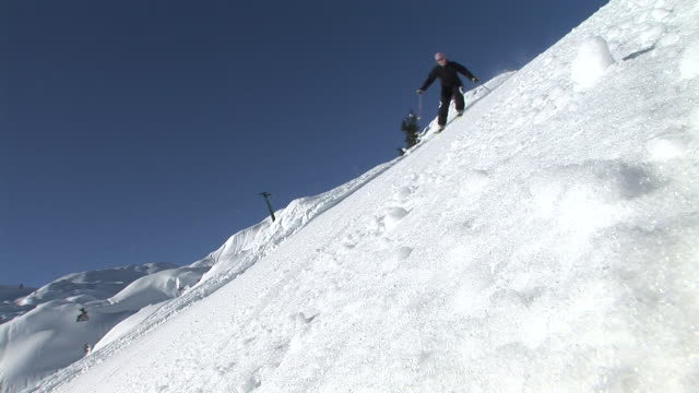 HD LOOP: Skiing Over The Camera