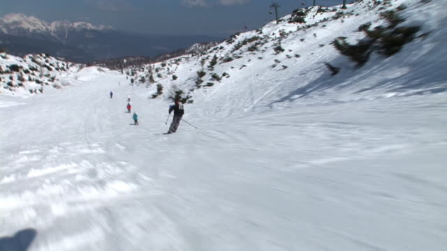 hd: skiing point of view - nordic skiing event stock videos and b-roll footage