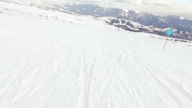 Skiing. Pov.