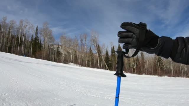 skiing, ski pole - ski pole stock videos & royalty-free footage