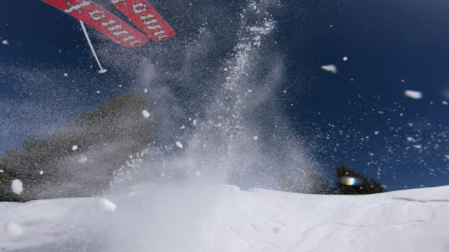 skiing - snow cornice stock videos and b-roll footage