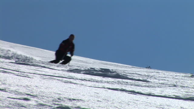 hd: skiing - ski slope stock videos & royalty-free footage
