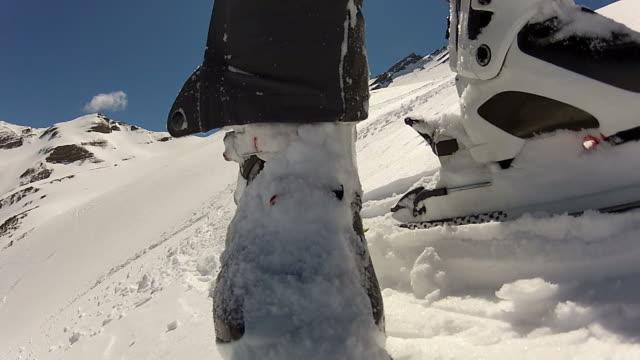 vidéos et rushes de de ski - en individuel