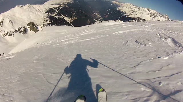 skiing - wearable camera stock videos & royalty-free footage