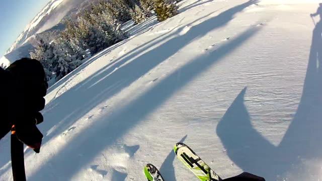 スキー場 - スキー板点の映像素材/bロール