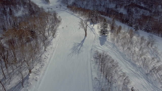 aerial skiing - ski slope stock videos & royalty-free footage
