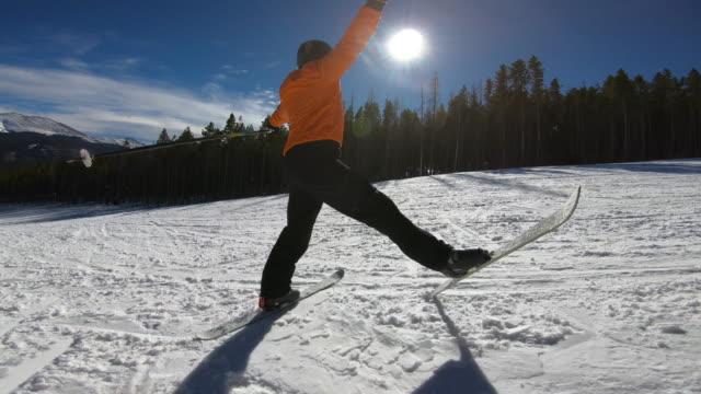 vidéos et rushes de skiing - exploit sportif