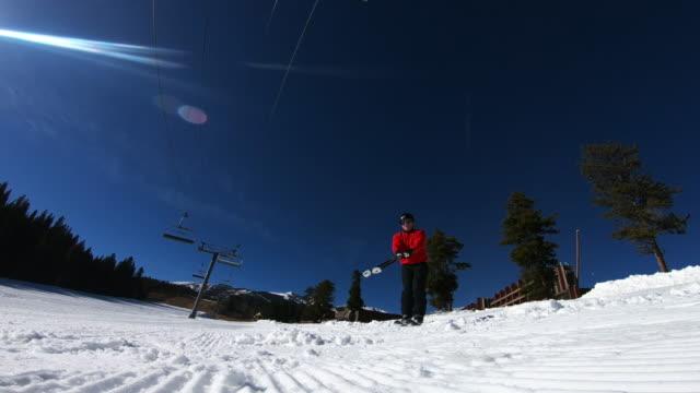 skiing - bastoncino da sci video stock e b–roll