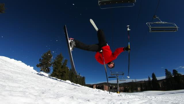 skiing - ski pole stock videos & royalty-free footage