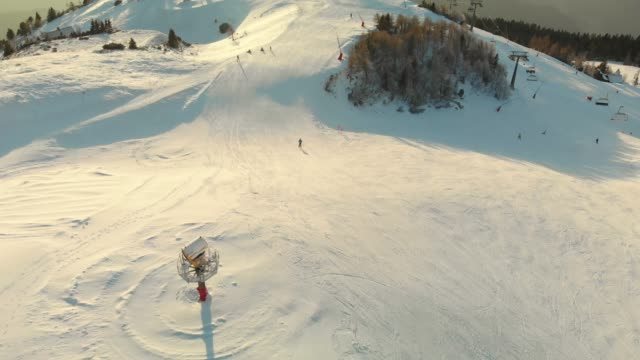 skiing with a view of a misty valley - ski flying stock videos and b-roll footage