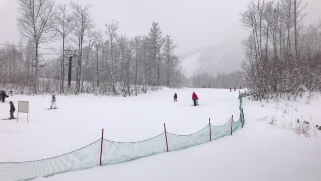 Ski-lift in Niseko Ski Resort, Hokkaido