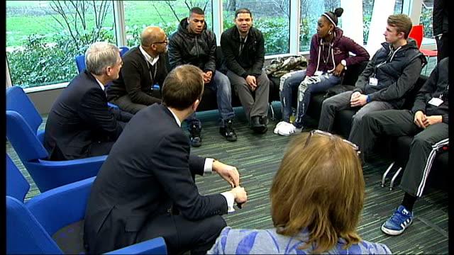 skills minister matthew hancock visits south thames college england london south thames college photography** matthew hancock mp chatting to staff /... - 女性教師点の映像素材/bロール