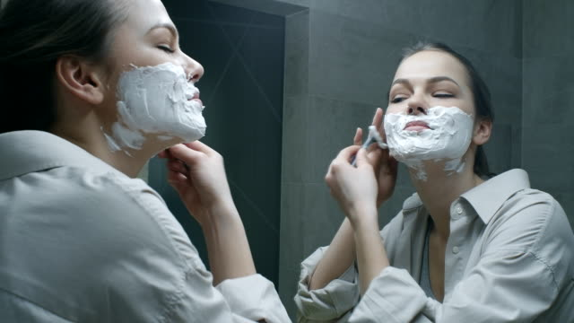 skin care - shaved stock videos & royalty-free footage