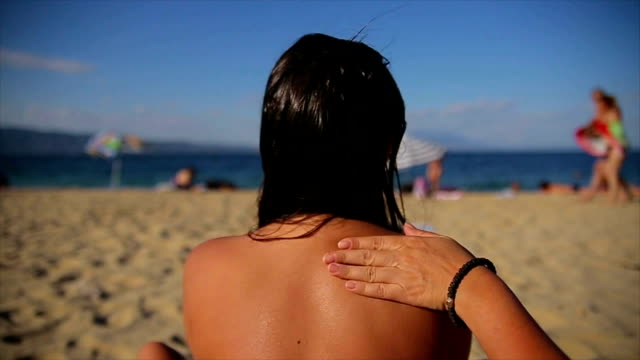skin protection from the sun - protection stock videos & royalty-free footage