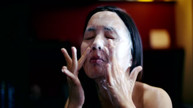 skincare woman washing face - washing face stock videos & royalty-free footage
