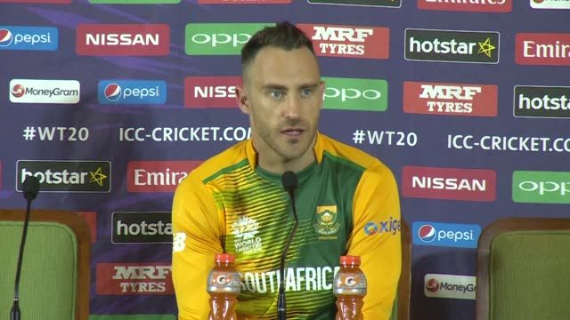 skipper faf du plessis acknowledges south africas reputation as big match chokers has become a monkey on the back of the team that they will only... - international match stock videos & royalty-free footage