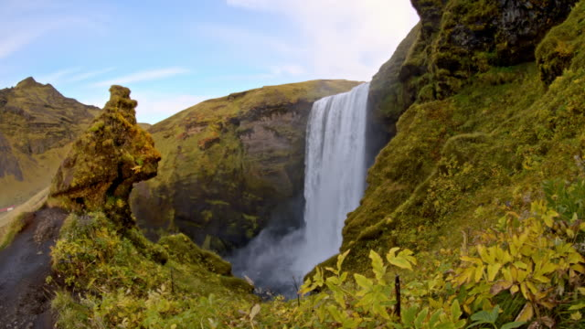 DS Skogafoss waterfall in Iceland