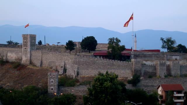 skopje city walls - skopje stock videos and b-roll footage