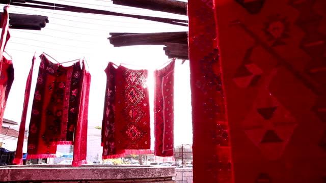 skopje old bazaar - rug stock videos & royalty-free footage