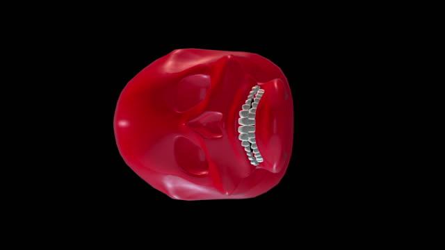 stockvideo's en b-roll-footage met schedel decoratie kunst voor rood - hersenhelft