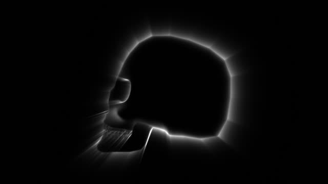 stockvideo's en b-roll-footage met schedel decoratie kunst voor wit - hersenhelft