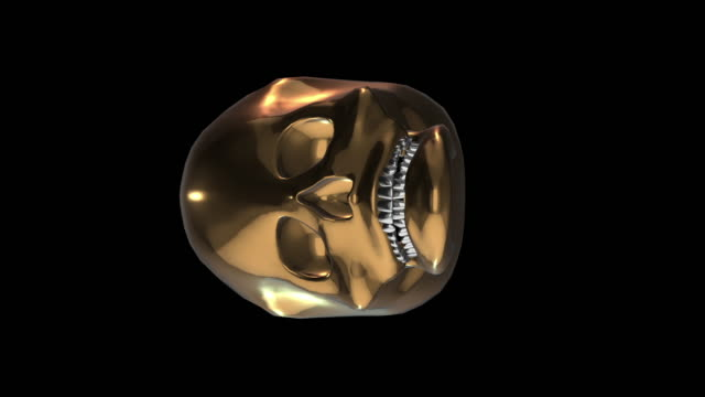 skull of crazy moving gold - frontal lobe stock videos & royalty-free footage