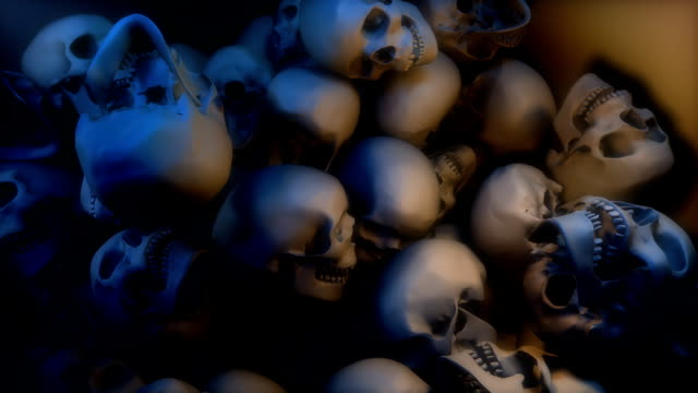 Skulls falling into a Pile (Loop between frames 643-843)