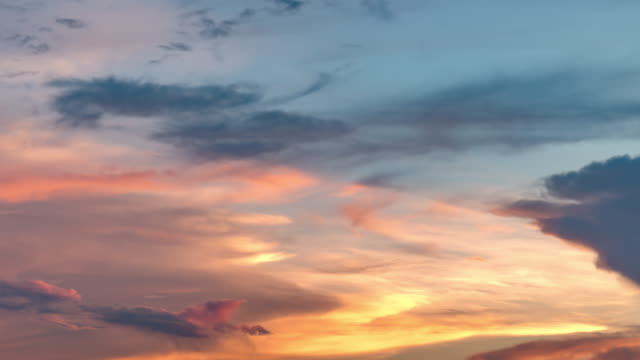 sky and moving clouds - twilight stock videos & royalty-free footage