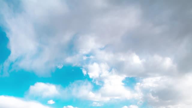 himmel und wolken bewegen - stratosphäre stock-videos und b-roll-filmmaterial