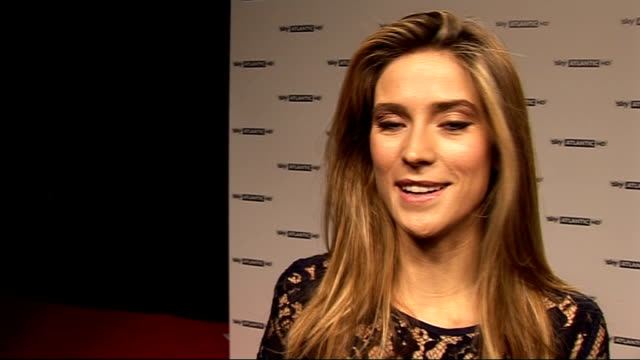 red carpet interviews england london throughout ** charlotte salt posing for photocall / charlotte salt interview sot on how long it took her to get... - fototermin stock-videos und b-roll-filmmaterial