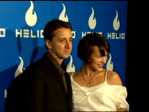 sky dayton helio ceo and milla jovovich at the helio launch event at private residence in los angeles california on may 3 2006 - milla jovovich stock videos and b-roll footage