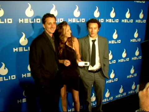 sky dayton, helio ceo, bijou phillips and danny masterson at the helio launch event at private residence in los angeles, california on may 3, 2006. - bijou phillips stock videos & royalty-free footage