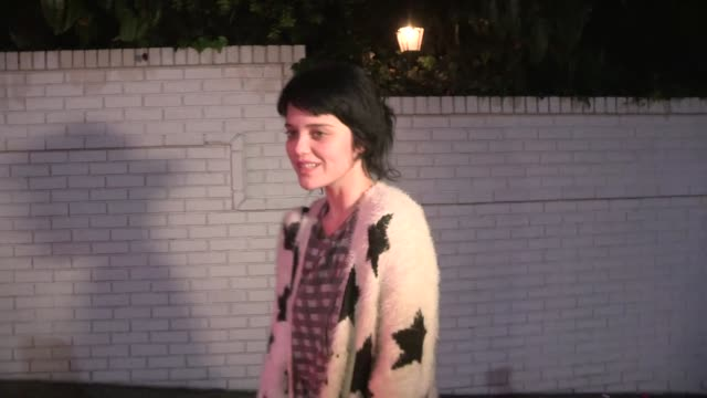 Sky Ferreira on Justin Bieber's retierment twerking with Miley Cyrus at Chateau Marmont in Los Angeles in Celebrity Sightings in Los Angeles