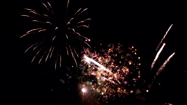 Sky full of Fireworks. New Year's Eve, Independence Day