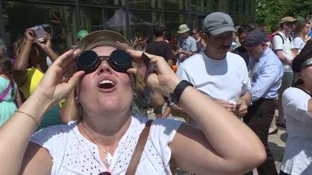 sky gazers at the smithsonian's national air and space museum in washington dc - smithsonian institution stock videos & royalty-free footage