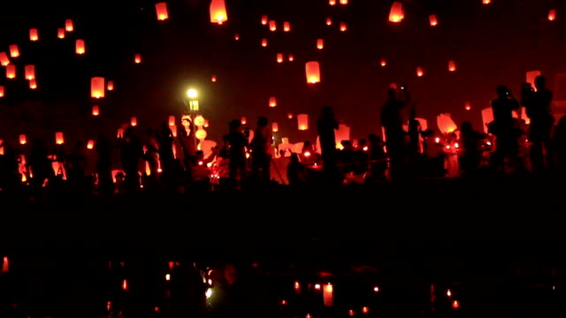 hd: sky lantern festival - sky lantern stock videos & royalty-free footage