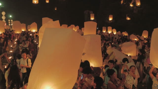 Sky Lantern Loi Krathong Traditional Festival