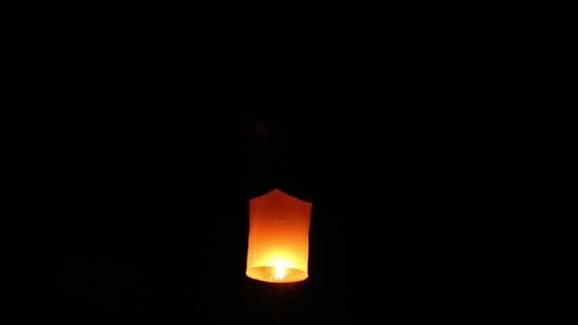 sky lantern loi krathong traditional festival. - paper lantern stock videos and b-roll footage