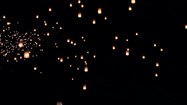 sky lanterns - lantern stock videos & royalty-free footage