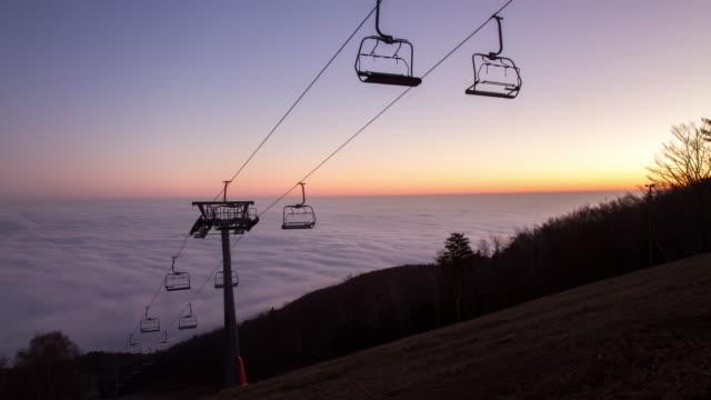 T/L Sky lift in the fog
