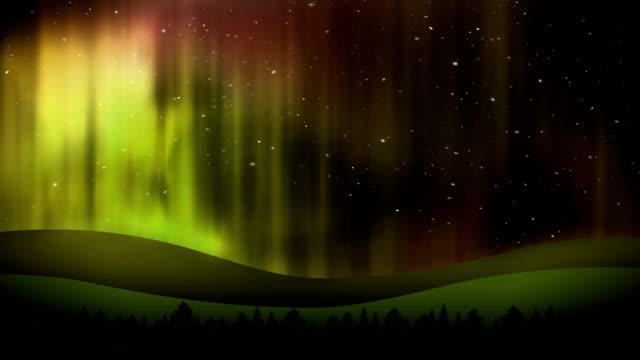 vidéos et rushes de sky lumières - hémisphère nord