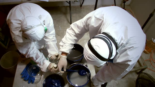 sky news has gained exclusive access to one of the small illegal drug laboratories operating in mexico and making vast profits by producing crack... - cocaine stock videos and b-roll footage