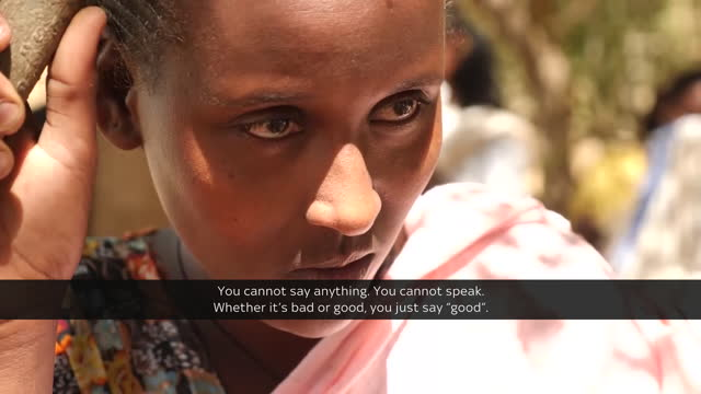 sky news has seen first hand the destruction left after the conflict in tigray, ethiopia. shows: displaced people and camels walking with... - conflict stock videos & royalty-free footage