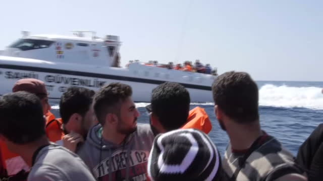 sky news has witnessed firsthand the ordeal that thousands of refugees go through as they make the dangerous sea crossing from turkey many have made... - syria stock videos & royalty-free footage