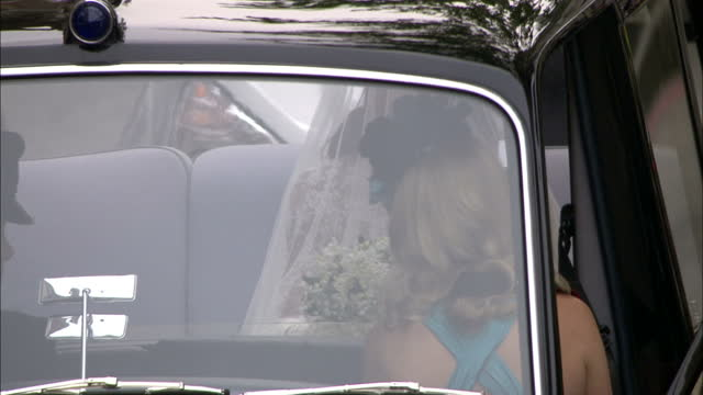 sky news royal wedding procession footage on april 29 2011 in london england - 40 seconds or greater stock videos & royalty-free footage