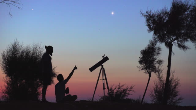 himmel observetion - astronomie stock-videos und b-roll-filmmaterial