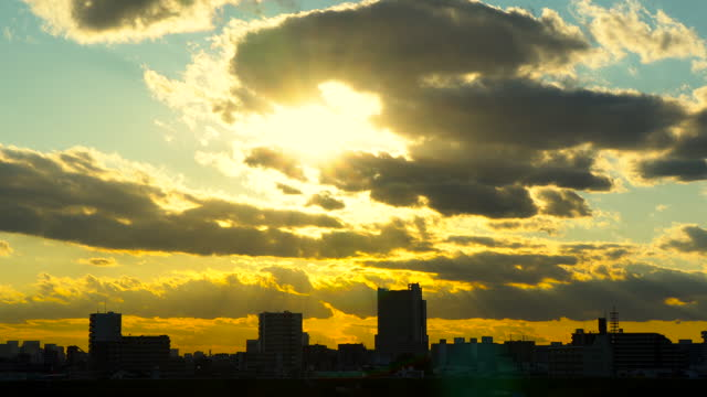 sky over tokyo with sun rays - passion stock videos & royalty-free footage