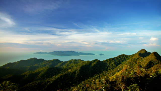 sky, sea and mountains - langkawi stock videos and b-roll footage