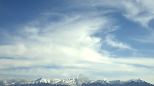 sky  the hills  field  larch forest  wide  Tokachidake mountain range