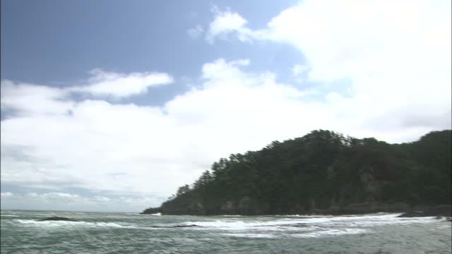 sky   tilt down   island   long - shimane prefecture stock videos & royalty-free footage